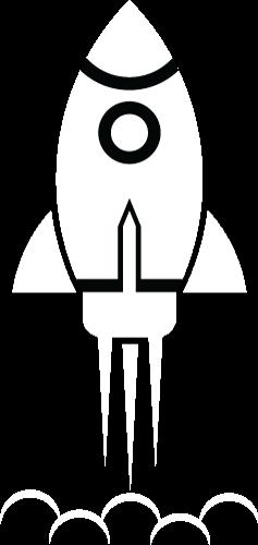 Rocket propelled upward at speed